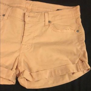 Tan 7 for all mankind shorts
